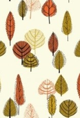 Katia Katia Fabrics Canvas Gold leaves