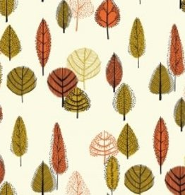 Katia Katia Fabrics Canvas Gold leaves