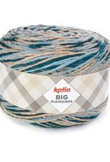 Katia Katia Big Diamonds 604 - Hemelsblauw-Steengrijs-Blauw