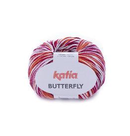 Katia Katia Butterfly 83 rood-fuchia-oranje