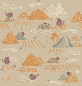 Katia Katia fabrics Softshell 1  Beaver and mountains