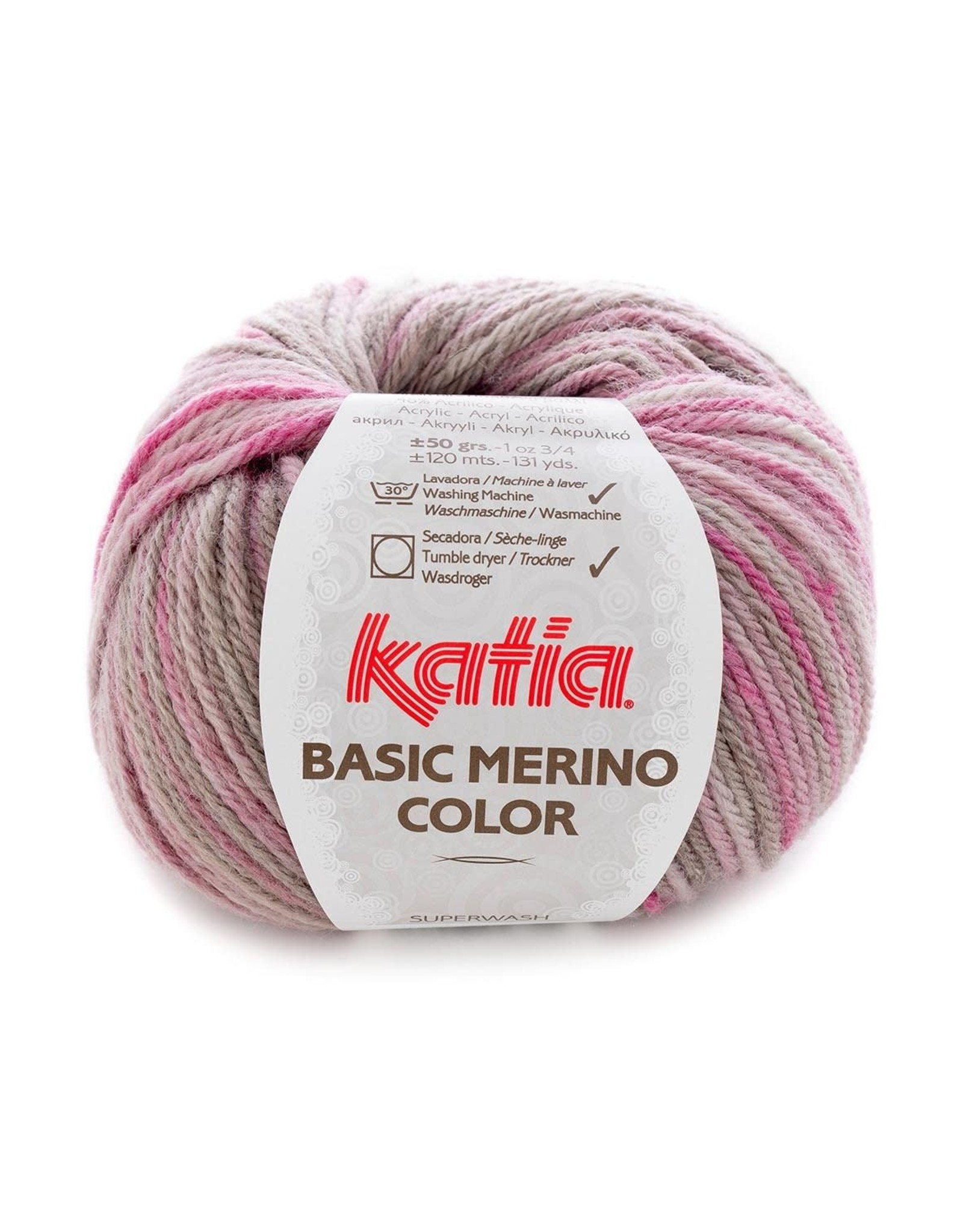 Katia Katia Basic Merino Color 202 - Grijs-Bleekrood