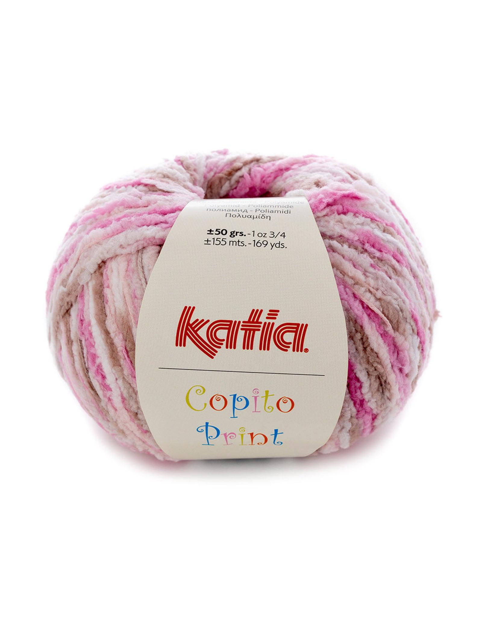 Katia Katia Copito Print 100 Bleekrood-Wit-Beige