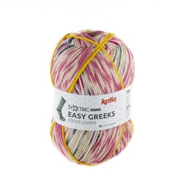 Katia Katia Easy Greeks Socks 73 - Medium bleekrood-Parelmoer-lichtviolet