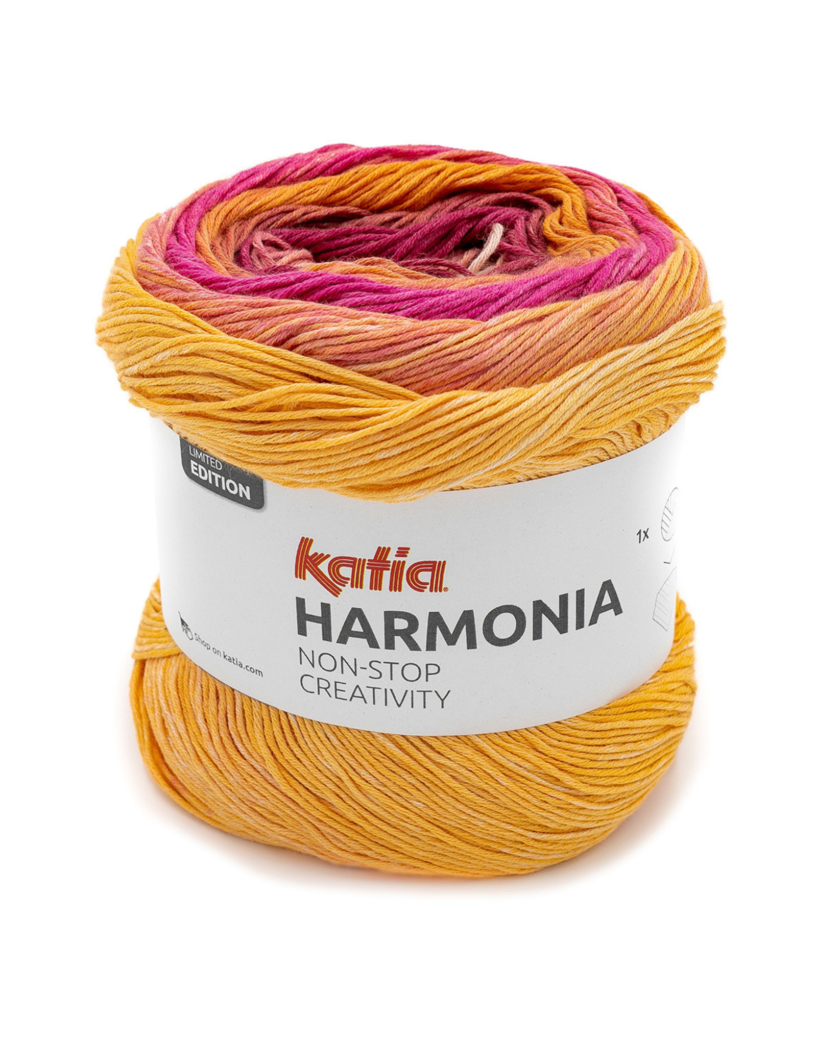 Katia Katia Harmonia 203 - Bleekrood-Oranje-Rood-Geel