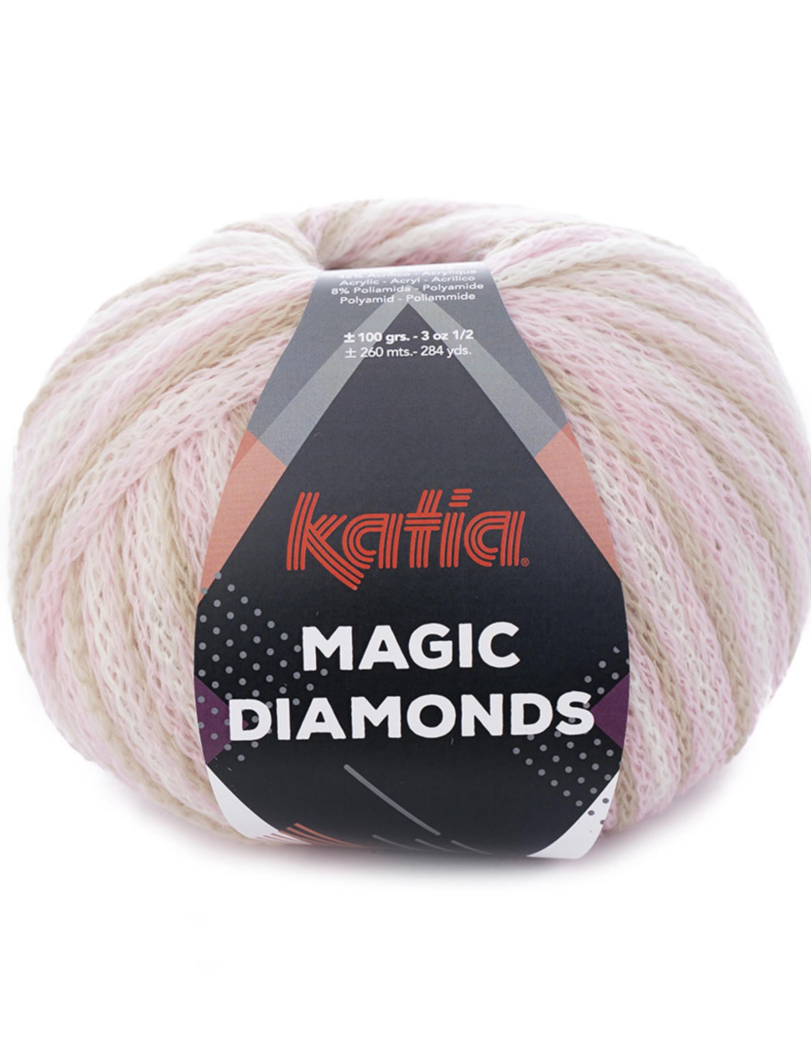 Katia Katia Magic Diamonds 54 bleekrood - ecru - beige
