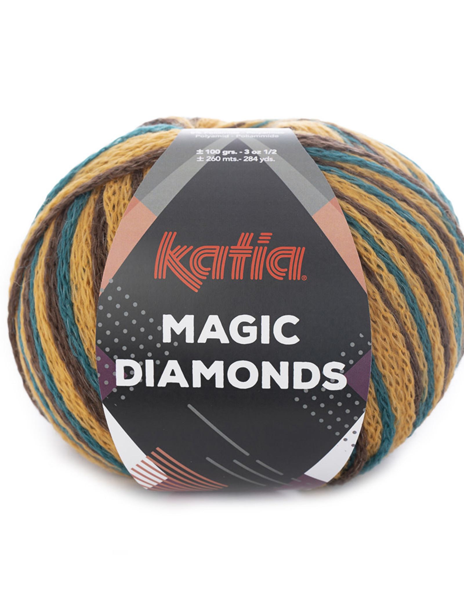 Katia Katia Magic Diamonds 56 groenblauw-oker-bruin