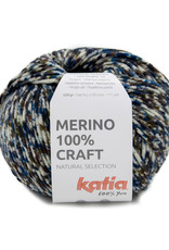 Katia Katia merino 100 % craft 202 blauw-bruin