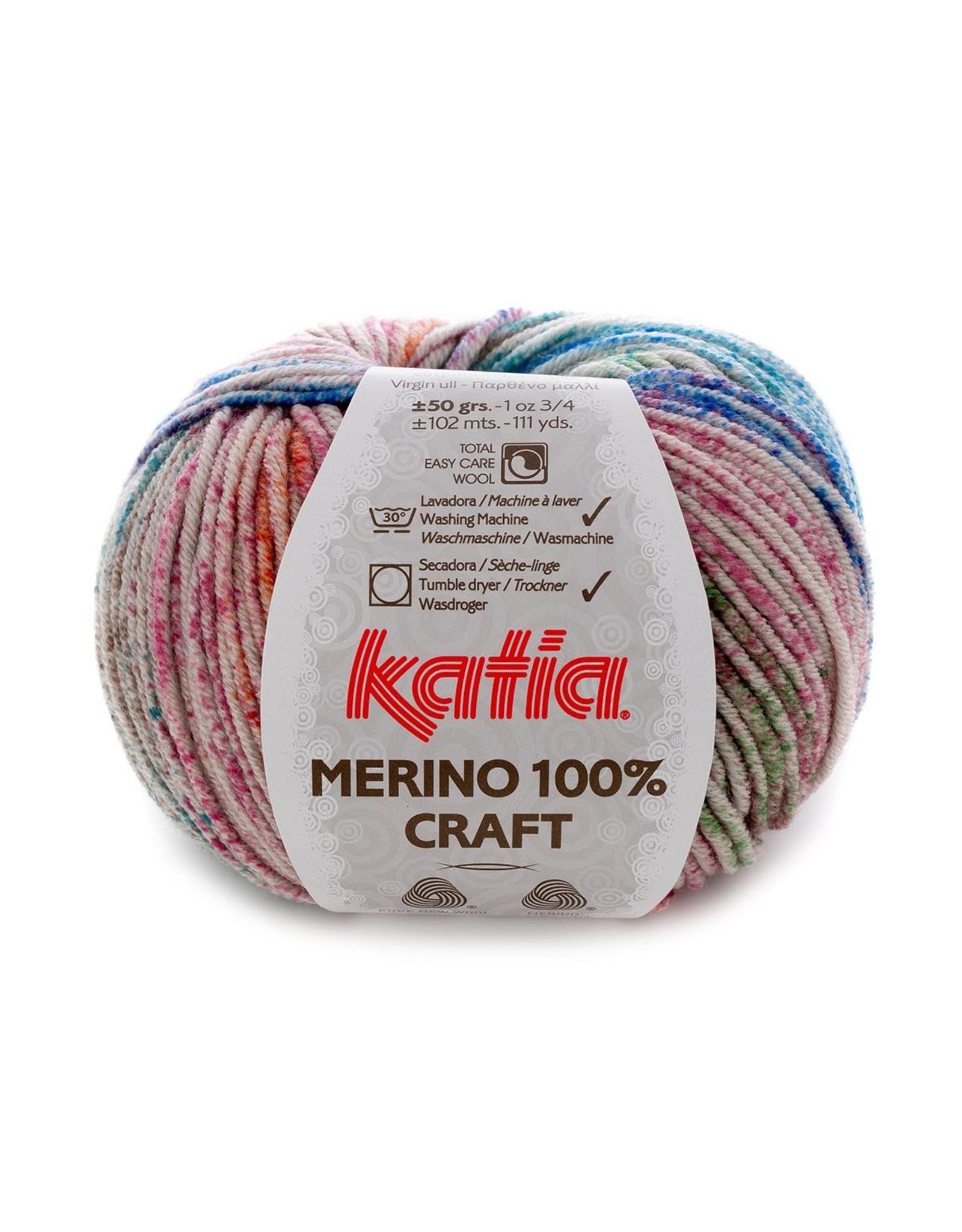 Katia Katia merino 100 % craft 306 - Oker-Bruin-Groen