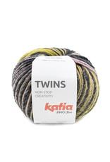 Katia Katia Twins 151 - Oker-Bleekrood-Blauw