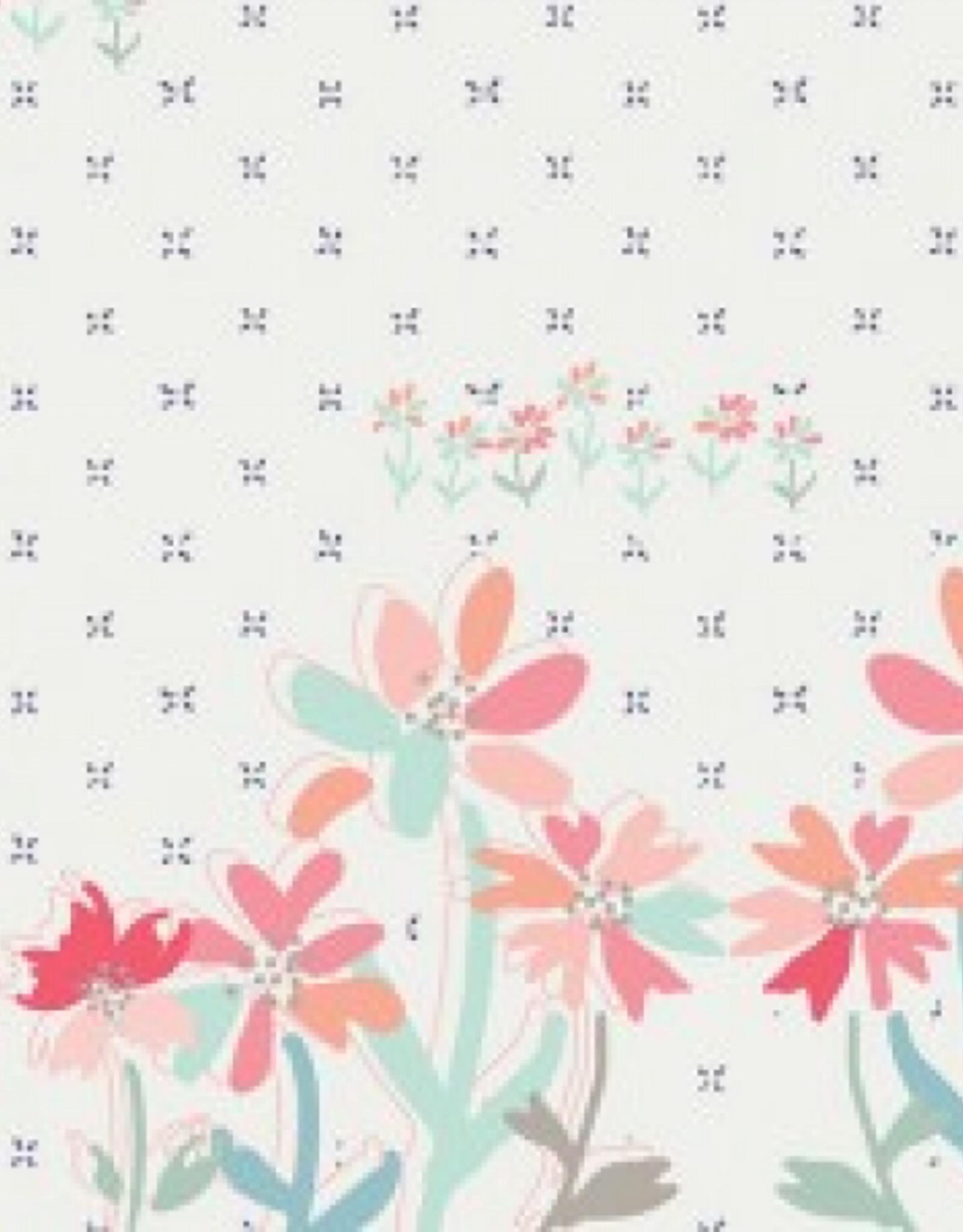 Art Gallery Katoen Paperie paneel met bloempjes