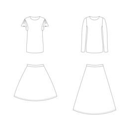Bel ' Etoile Bel' Etoile papieren patroon Cora shirt en rok voor dames en tieners