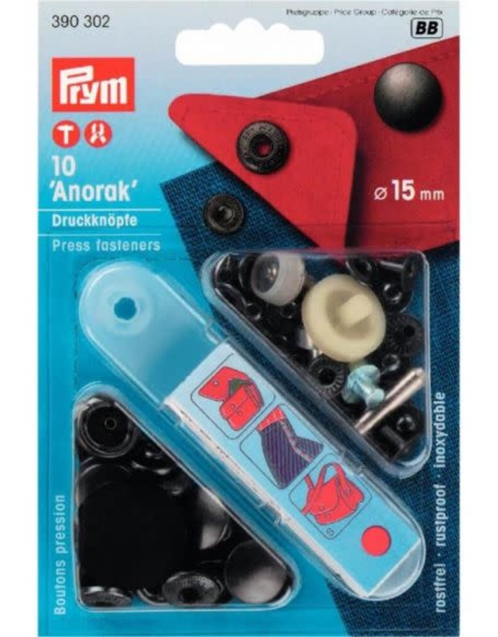 Prym Prym VERNIETBARE DRUKKN. ANORAK 15mm BRONS (p10st)