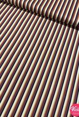 Bittoun Bittoun strepen paars, oker, zwart, ecru