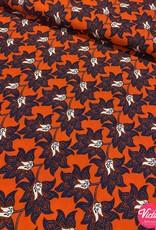 Bittoun Bittoun oranje met bloemen
