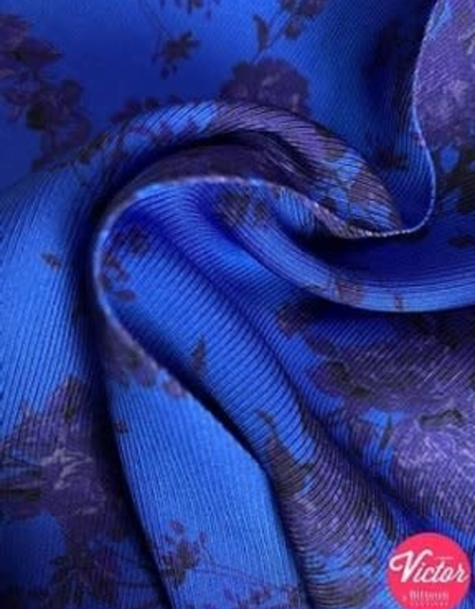 Bittoun Bittoun viscose  blauwe bloemen