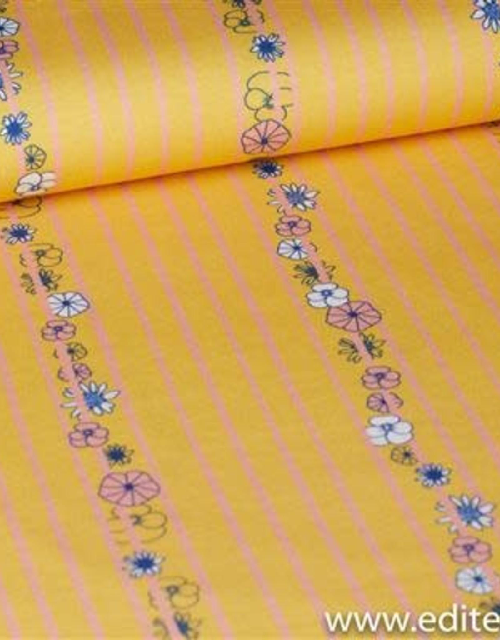 Chat Chocolat Chat Chocolat jersey  weaving flowers