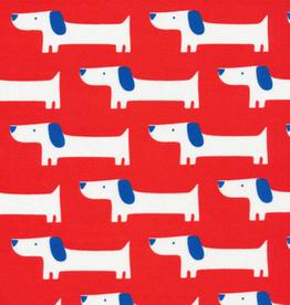 Cloud 9 Katoen gelamineerd hondje wit met rood