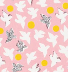 Cloud 9 Katoen Glint roze vogels