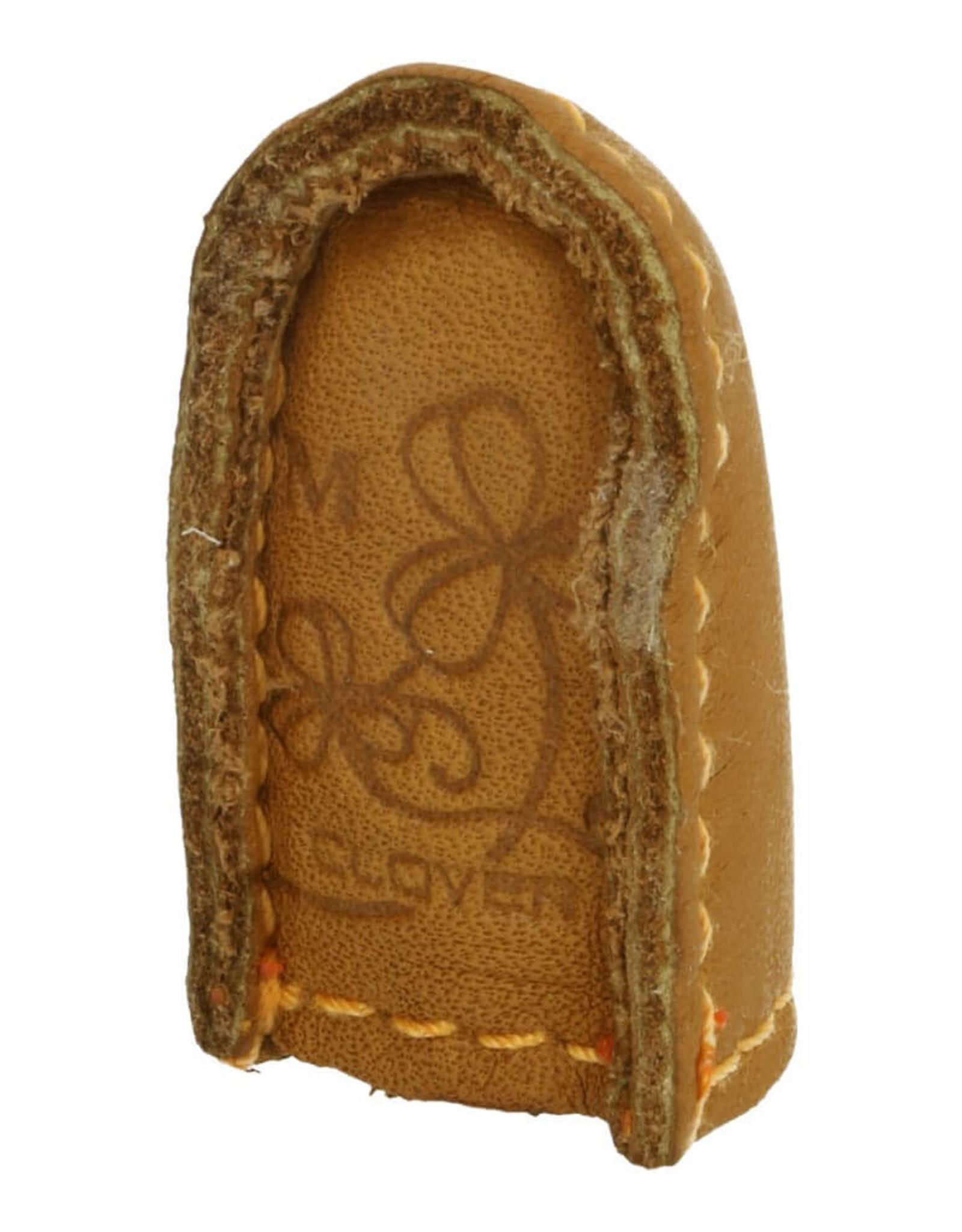 clover Clover Vingerhoed Leer Natural Grip M (1stuk)