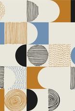 Katia Katia Fabrics Canvas Gold Geometric Space