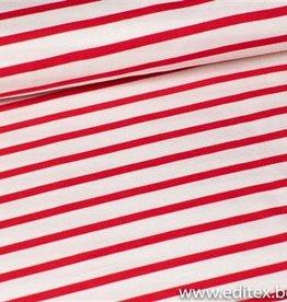 Fibre Mood viscose rood - wit streep Cory