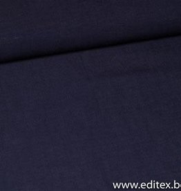 Fibre Mood viscose-linnen donker blauw
