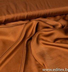 Fibre Mood Fibre Mood viscose oranje/bruine satijn
