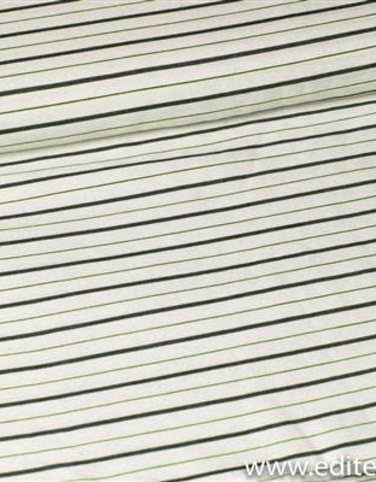 Editex Fabrics Fibre Mood viscose linnen streepjes blauw neon