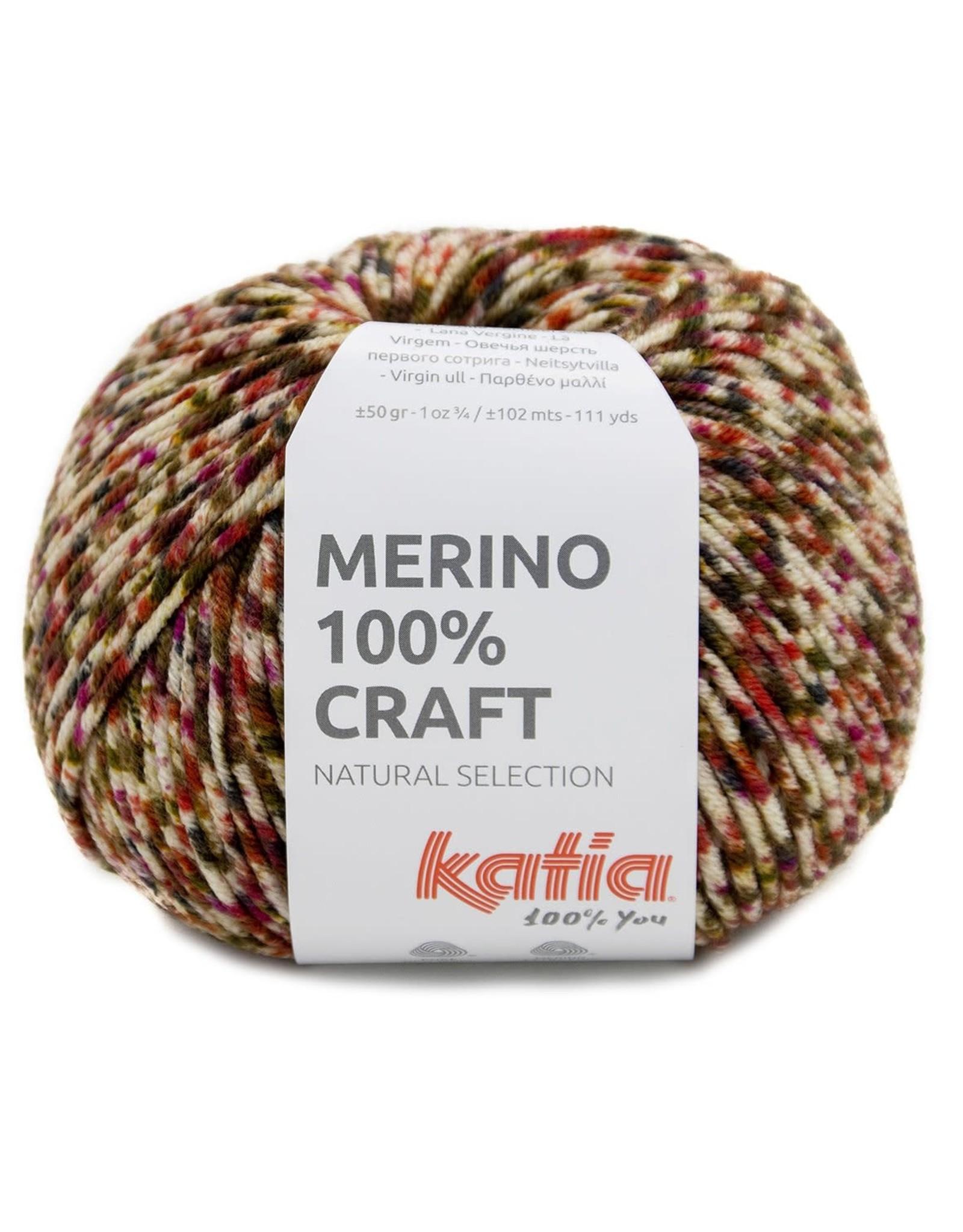 Katia Katia merino 100 % craft 205 - Rood-Bruin
