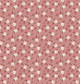 Poppy Poppy Jersey Cute Goose flowers GOTS donkervuilroze