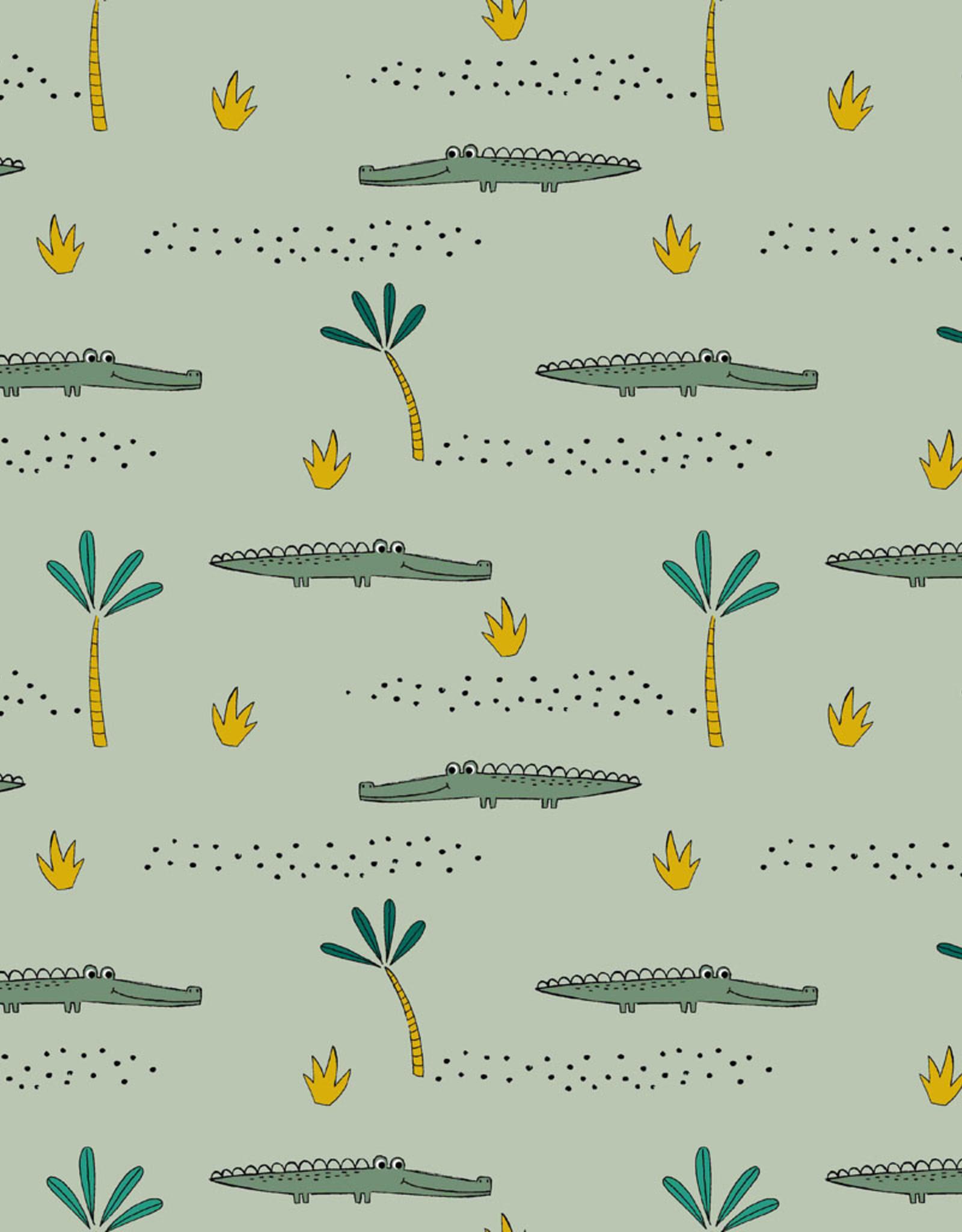 Poppy Poppy Jersey Crocodile GOTS mint