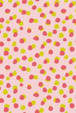 Poppy Poppy Katoen dots  GOTS  roze /limoengroen