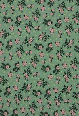 Poppy Poppy Jersey Flower donker mint