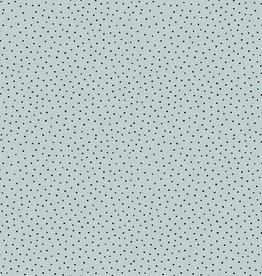 Poppy Poppy Cotton slub washed lichtblauw dots