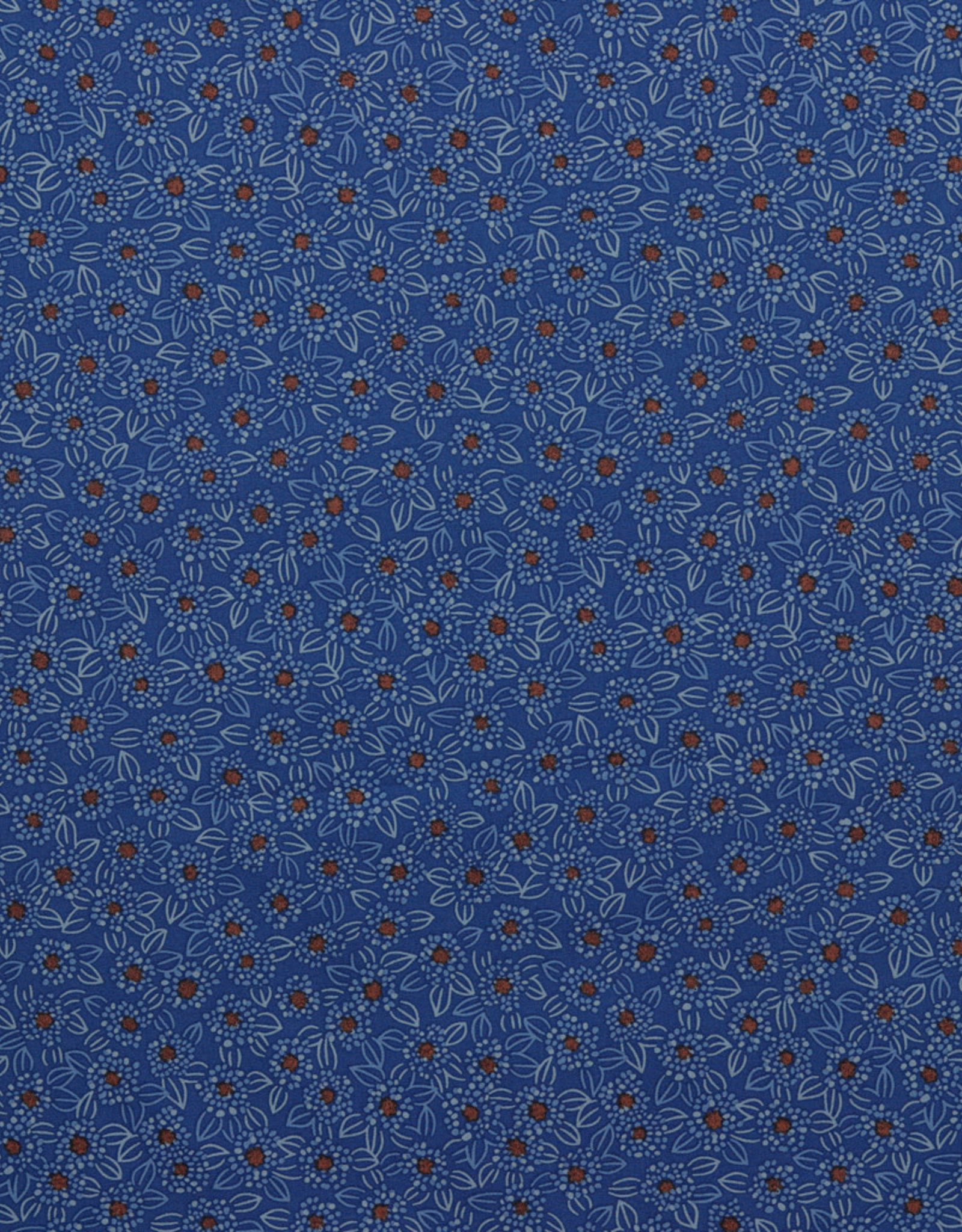 Poppy Poppy Katoen stretch blauw met bloementjes