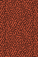 Poppy Poppy Canvas shapes rood/roze met zwarte blokjes