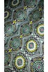 Editex Fabrics Editex Canvas donkerblauw met groen/geel/wit/roze