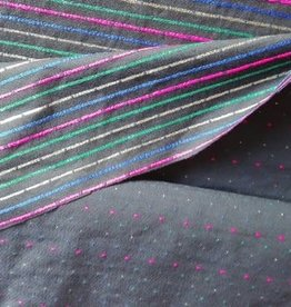 Editex Fabrics Editex katoen blauw/zwart met strepen of bolletjes