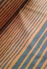 La Maison Victor Editex La Maison Victor katoen bruin met blauwe strepen