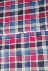 Editex Fabrics Editex katoen met linnen , ruitjes, blauw /rood