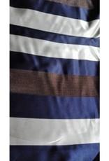 Editex Fabrics Editex satijnen stof met strepen blauw, goud en ecru