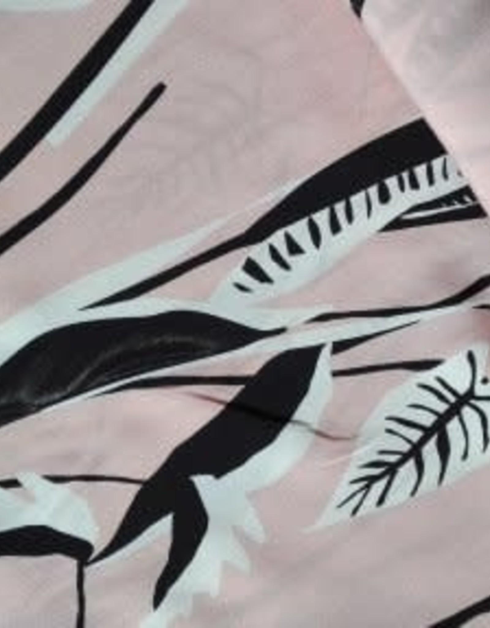 La Maison Victor Editex Viscose lichtroze/roze met wit/zwart
