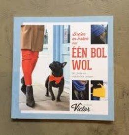 La Maison Victor Boek Breien en Haken met 1 bol wol van La Maison Victor