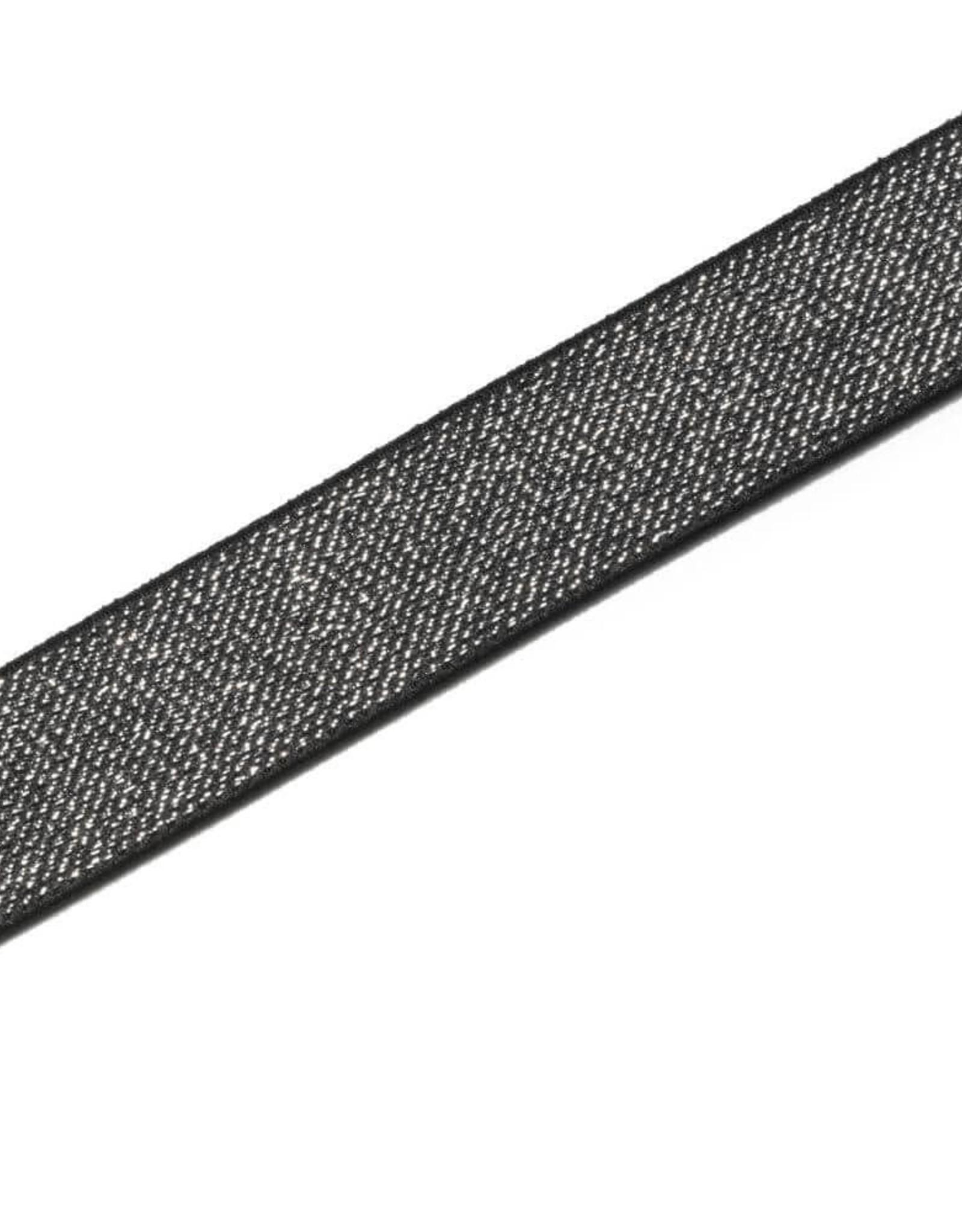 Prym Prym ELASTIEK COLOR ZWART-ZILVER 25mm