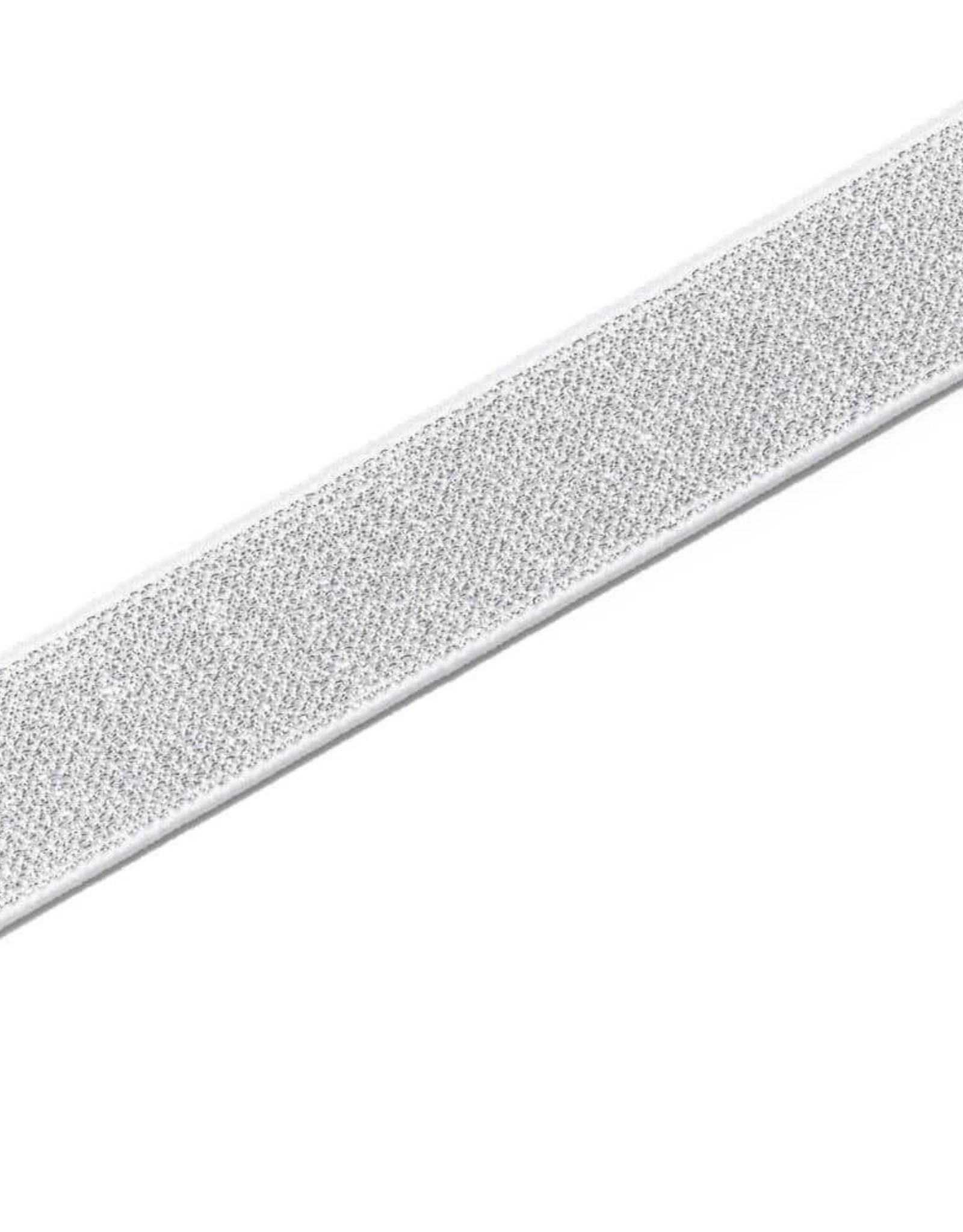 Prym Prym ELASTIEK COLOR WIT-ZILVER 25mm