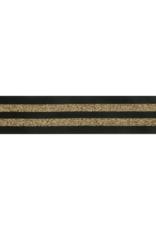 Elastiek gestreept 38mm zwart-goud