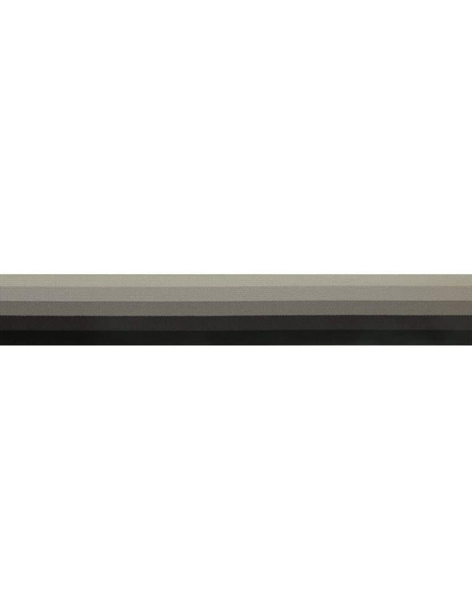 Elastiek gestreept zwart/grijs 32mm