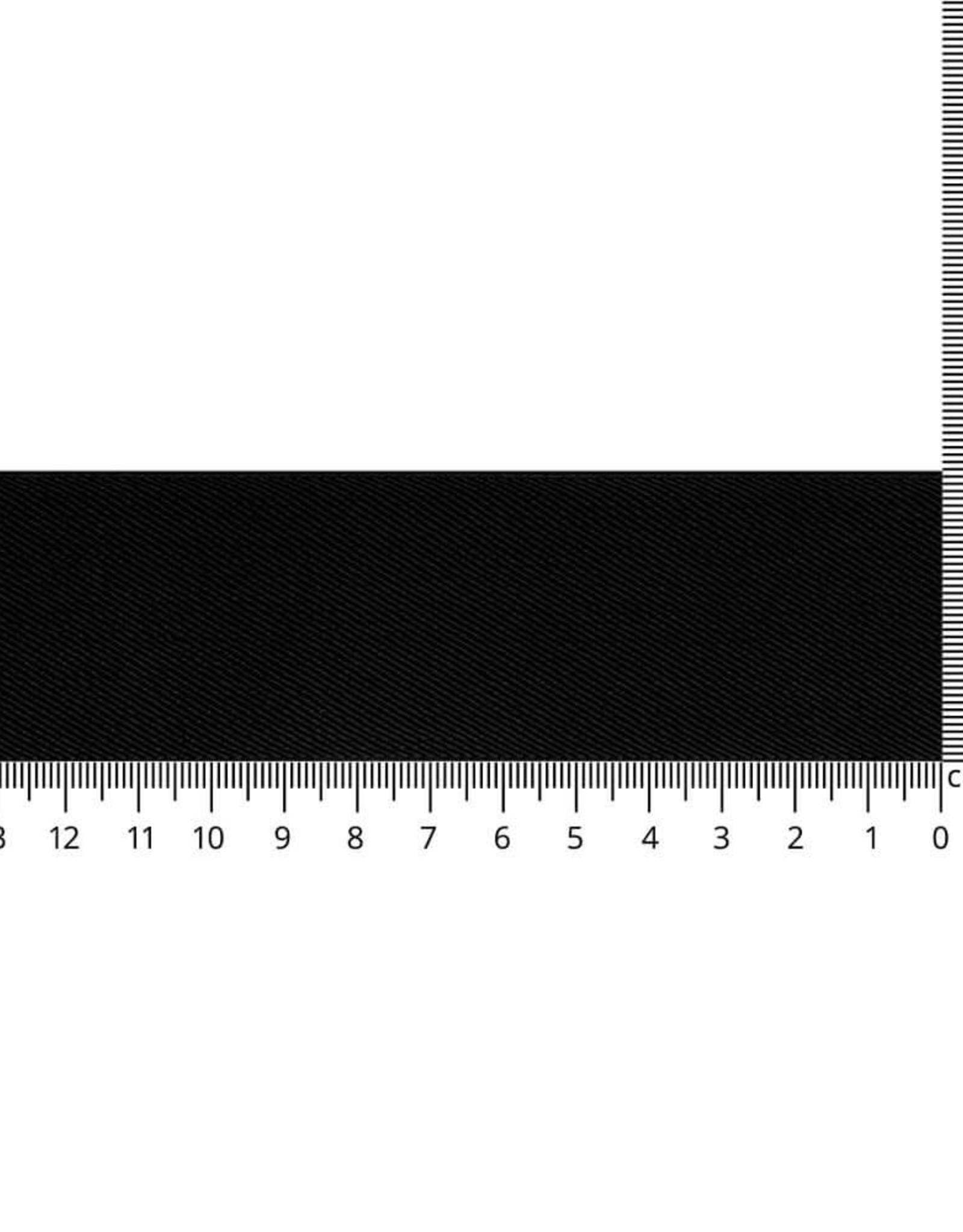 Elastiek schuin geweven zwart 40mm