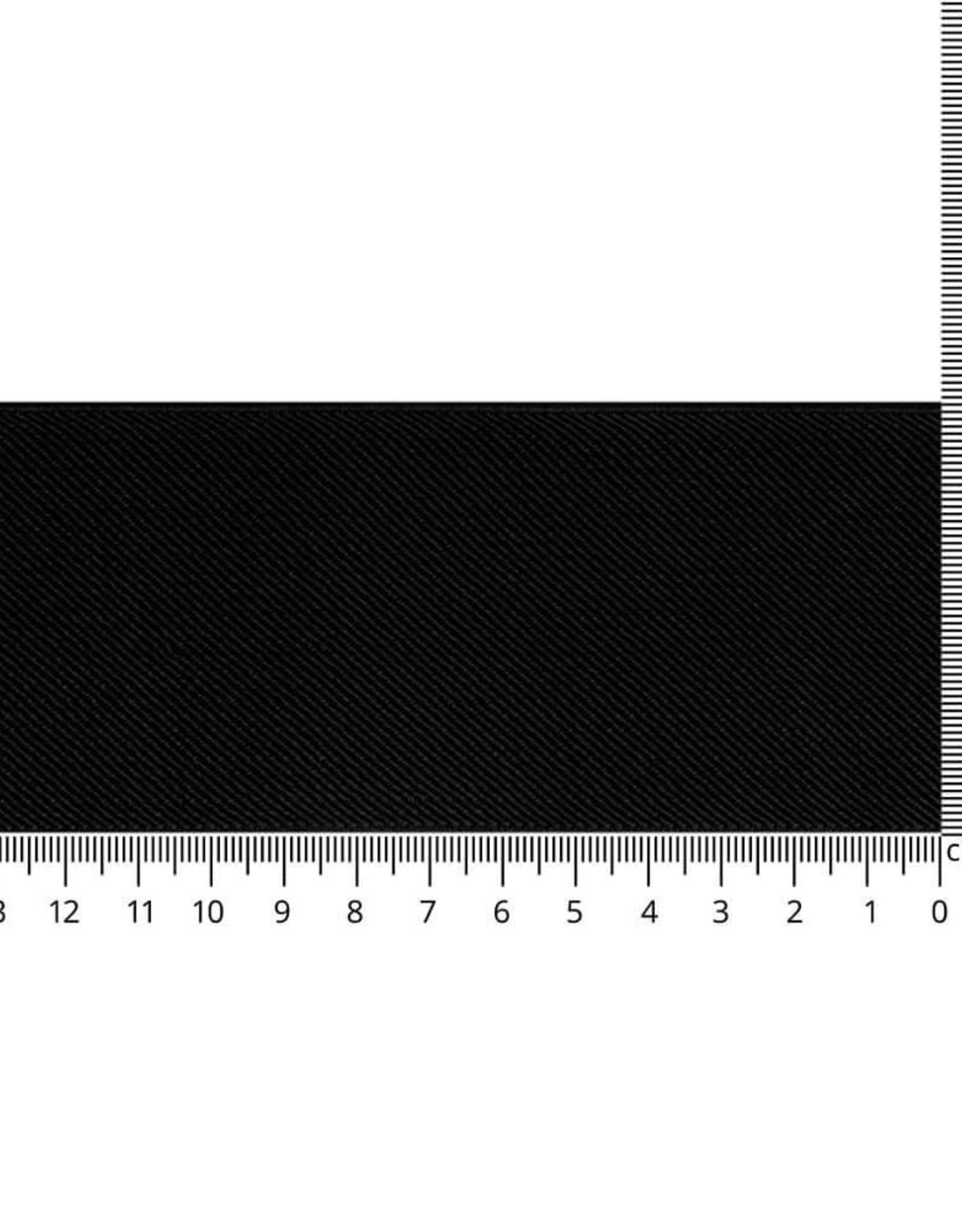 Elastiek schuin geweven zwart 60mm